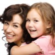 Portrait of happy daughter with her mother — Stock Photo #11853683