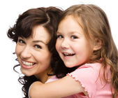 Portrait of happy daughter with her mother — Stock Photo
