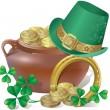 Saint Patricks Day Symbols — Stock Vector