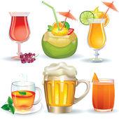 Set of drinks — Stock Vector