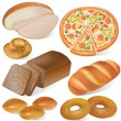 Bread and bakery set - Stock Vector