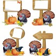 Thanksgiving turkey board — Stock Vector
