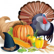 Stock Vector: Feast of Thanksgiving
