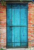 Old door and wall — Stock Photo
