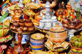 Traditional moroccan pottery — Stock Photo