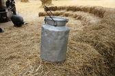 Old tin for milk — Stock Photo