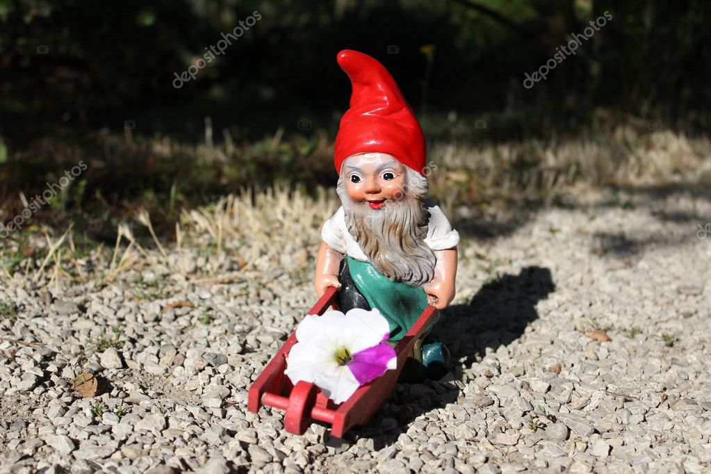 Nain de jardin avec brouette photographie baloss74 for Acheter un nain de jardin