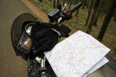 Moto ride — Stock Photo