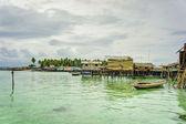 Bajau laut village — Stock Photo