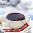 Mulled wine for Christmas — Stockfoto