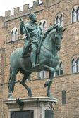 Monument to Cosimo de 'Medici in Florence — Stock Photo