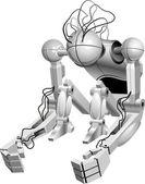 Robotic — Stock Vector