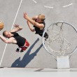 Two basketball players on the court — Stock Photo #11534816