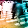Crowd on zebra crossing street — Stock Photo #11754404