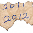 2012 new year background of paper — Stock Photo