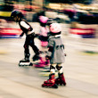 Stockfoto: Child playing rollerblade