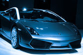 Lamborghini sport car on display — Stock Photo