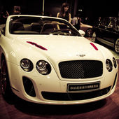 Bentley Continental Supersports ISR car on display — Stock Photo