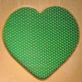 Wood heart shape frame — Stock Photo