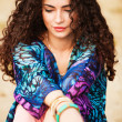 Curly hair woman — Stock Photo #11401136