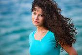 Woman and sea — Stock Photo