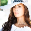 Portrait with hat — Stock Photo