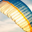 Paraglider on sky - Stock Photo
