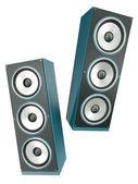 Dwa głośniki — Zdjęcie stockowe