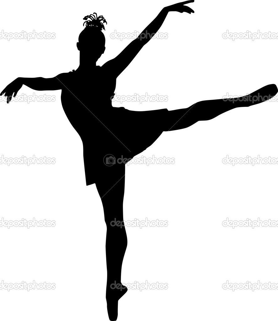Silhouette of ballerina — Stock Vector #11069244
