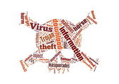 Background illustration of computer trojan horse virus — Stock Photo