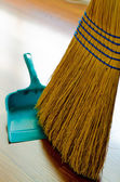 Broom and Dust Pan — Stock Photo
