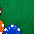 Casino gambling chips with copy space — Stock Photo