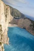 ナヴァイオ ・ ビーチは、ザキントス島、ギリシャ — ストック写真