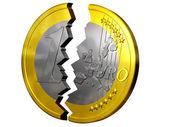Broken euro — Stock Photo