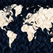 World map and all things related — Stock Photo