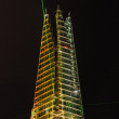 Light and laser show for the Shard opening — Stock Photo #11515975