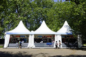 Monday July 23, 2012: An official London 2012 shop in Hyde Park — Stock Photo
