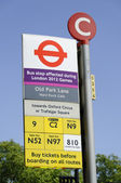 Monday July 23, 2012: Bus disruptions due to the London 2012 Olympics — Foto de Stock