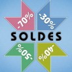 Imprimé SOLDES — Stock Photo
