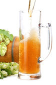 Beer mug, beer barrel — Stock Photo