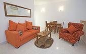 Luxusní interiér obývacího pokoje bytu — Stock fotografie
