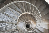 Spiral staircase to infinity — Stock Photo