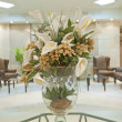 Flower display in a hotel lobby — Stock Photo