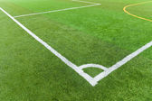 Artificial turf football field — Stock Photo