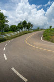 Curving road up mountain — Stock Photo