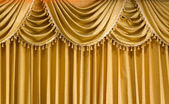 Light Gold fabric Curtain — Stock Photo