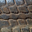 Dirty Tire tread - Stock Photo