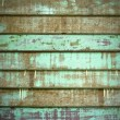 Green Old Cracked wood Plank wall — Stock Photo