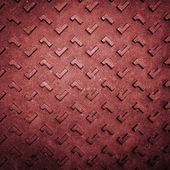 červené grunge rezavé ocelové podlahová deska — Stock fotografie