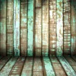 Stock Photo: Green old Wood Wall